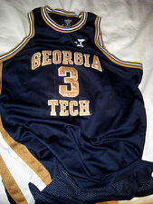 NEW JERSEY NETS BROOKLYN VTG GEORGIA TECH MARBURY JERSEY-EMBROIDERED SEWN- XL