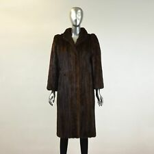 Mahogany Mink Fur Coat Size S/M Pre-Owned