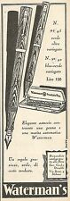 W2067 Waterman's Fountain Pen - Pubblicità del 1929 - Vintage advertising