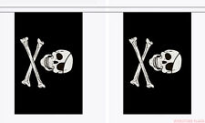 SKULL AND CROSSBONES 3M BUNTING Jolly Roger PIRATE FLAG