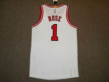 Derrick Rose Chicago Bulls White Adidas Rev 30 Authentic Jersey sz L +0 Mesh New