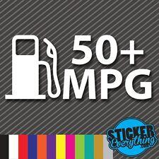 50+ MPG STICKER VINYL DECAL JDM DRIFT ILLEST HYBRID GAS FUEL Fits Civic Prius