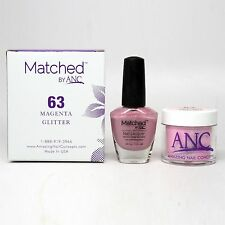 ANC Amazing Nail Concepts Matched kit # 63 Magenta Glitter