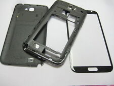 Housing cover +Glass lens for samsung galaxy Note 2 GT-N7100 N7100 Gray