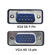 HD15 Pin VGA to DB 9-pin RGB Video Adapter Cable