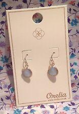 ORELIA LONDON PRETTY BLUE STONE DROP EARRINGS PALE GOLD FASHION JEWELLERY ~8065~