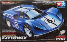 TAMIYA 1:32 MINI 4WD EXFLOWLY MS CHASSIS PRO SERIES NO.12 CON MOTORE  ART 18612