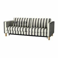 NEW IKEA KARLSTAD Sofabed Sofa Bed Cover Slipcover - Rannebo Black / White