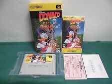 SNES -- DONALD IN MAUI MALLARD -- Boxed. Super famicom. Japan. work fully. 17041