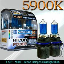 9007 HB5 80/100W SUPER WHITE 5900K XENON HALOGEN HEADLIGHT BULBS - LOW/HIGH BEAM