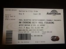 Noel Fielding Unused Concert Ticket - Liverpool Auditorium 7 November 2014