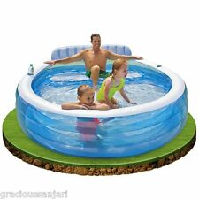 Intex Swim Centre Family Pool Lounge #57190 With Electric Inflator