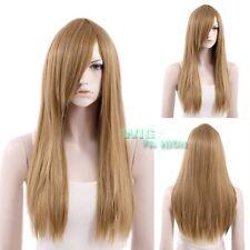 60cm Heat Resistant Long Straight Dark Blonde Cosplay Hair Wig