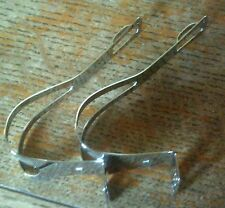 NOS  CHROMED STEEL MEDIUM  TOE CLIPS
