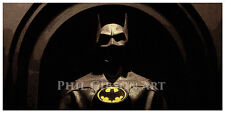 Original Batman Art Print Poster Cowl Costume Adam West Michael Keaton Mask 1989