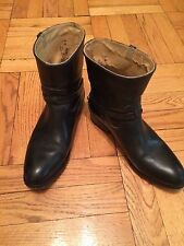 FRYE Womens Lindsay Plate Short Boot Black Size 7