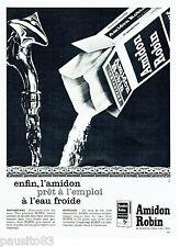 PUBLICITE ADVERTISING 1016  1963  Amidon instantané Robin