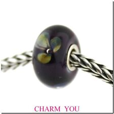Authentic Trollbeads Glass  61401 Violet Flower Bead