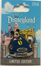 Disneyland 2016 Mickey Mouse on Autopia Car Piece of Disney History POH LE Pin