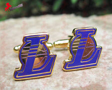 Gold Plated Los Angeles LAKERS Cufflinks –Xmas, Stocking Stuffer, Wedding Gifts
