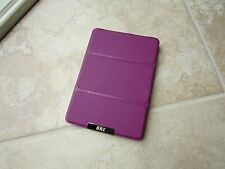"FYY Amazon Kindle Wi-Fi E Ink 6"" Tablet HARD Back Stand Book Folio Case Purple"