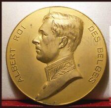 Rare Médaille Ancienne Expo Albert Roi des Belges Belgique Belgium