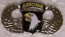 Hat Lapel Push Tie Tac Pin 101st Airborne Wings NEW