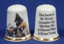 First Ascent of Everest Coronation Year 1953 China Thimble B/86