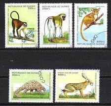 Animaux Faune sauvage Guinée (114) série complète 5 timbres oblitérés