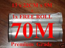 VACUUM HEAT SEALER FOOD SAVER BAGS 70Mx22CM ROLLS.PREMIUM QUALITY.SUIT SUNBEAM