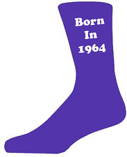 1964 Purple&White - Colourful Year Novelty Socks - Special Socks - Perfect Gift