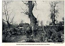1915 * Vormarsch durch ein polnisches Dorf an der Nawka *  WW1