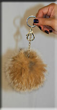 New Canadian Lynx Fur Key Chain - Extra Large Size - Efurs4less