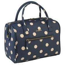 CATH KIDSTON MINI EMBOSSED BOWLER BAG BUTTON SPOT NAVY HAND SHOULDER TOTE SLING