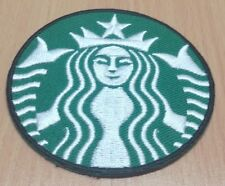 1xNEW STARBUCKS COFFEE LOGO EMBROIDERED IRON ON PATCH DIY SHIRT JACKET PO421