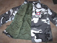 Military Bdu Jacket Snow Camo Jacket With Liner M65 Field Jacket Army Coat XL
