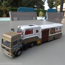 Ancien camion transport de chevaux Rodéo VOLVO F10 F12 MAJORETTE 1/60 TRUCK