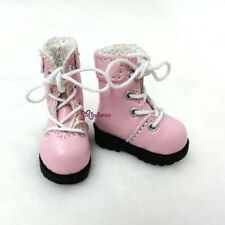 "16cm Lati Yellow Basic Bjd 12"" Neo Blythe Pullip Doll Shoes High Hill Boots PINK"