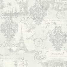 OPERA CALLIGRAPHY PARIS SILVER LOUVRE QUALITY FEATURE ARTHOUSE WALLPAPER 630803