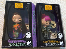 NEW Nightmare Before Christmas TOMY Disney DOLLCENA Jack and Sally DOLL Set of 2