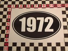 1972 Year Sticker - Morris MG Leyland Vauxhall Jaguar Land Rover Ford Birthday