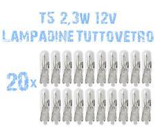 20x Glühbirne Glass T5 12V 2,3W Instrumentenbeleuchtung Armaturenbrett 2A1A 2A1A