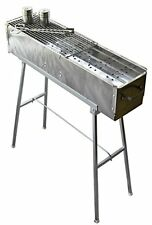 "Party Griller 32"" Stainless Steel Charcoal Grill – Portable BBQ Grill, Yakitori"