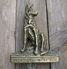Old Reclaimed Brass German Shepherd / Alsatian Door Knocker