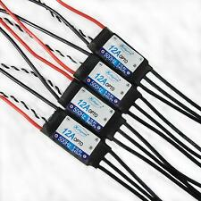 4x Hobbypower 12A OPTO ESC Speed Controller 2-4S for 250-300 Quadcopter QAV250