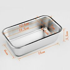 Aluminum Loaf Small Rectangle Box Tin for Home Bread Cake Cakes Baking Bakeware