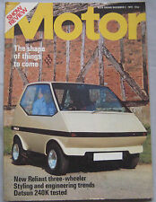 Motor magazine 3/11/1973 featuring Reliant  Robin, Datsun 240K GT road test