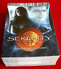 SERENITY - COMPLETE BASE SET of 72 trading cards - Inkworks