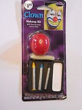 Clown Crayons Makeup Kit with Red Nose Trick or Treat Halloween Costume