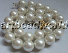 "variations color 17"" 12mm round seawater mother-of-pearl Natural shell necklace"